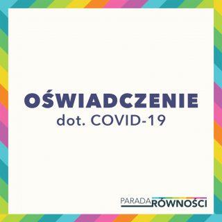 Oświadczenie dot. COVID-19